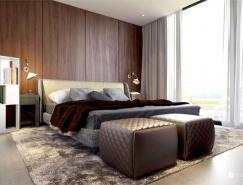 斯洛伐克Bratislava大气的浴室和卧室设计