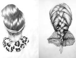 肖像的背后:Nettie Wakefield各种发型素描画欣赏