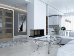 3个优雅清新的白色公寓设计欣赏