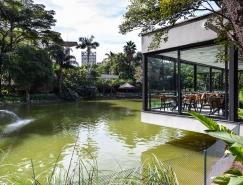 """""""飞""""在湖面上的巴西圣保罗湖苑餐厅"""
