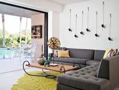 加州棕榈泉舒适自然的住宅设