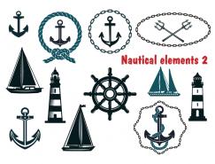 航海元素矢量素材(1)