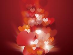 情人節浪漫愛心禮盒矢量素材