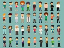 50个卡通人物矢量素材