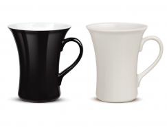 黑白马克杯矢量素材