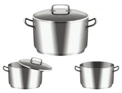 不锈钢汤锅矢量素材