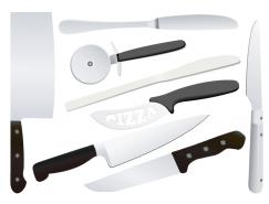 厨房刀具矢量素材