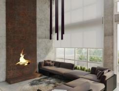 2个粗犷工业风loft住宅设计