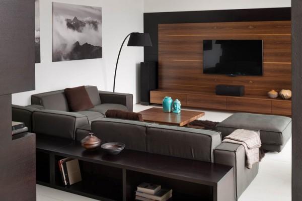 高雅的核桃木质感:温馨的两层别墅设计