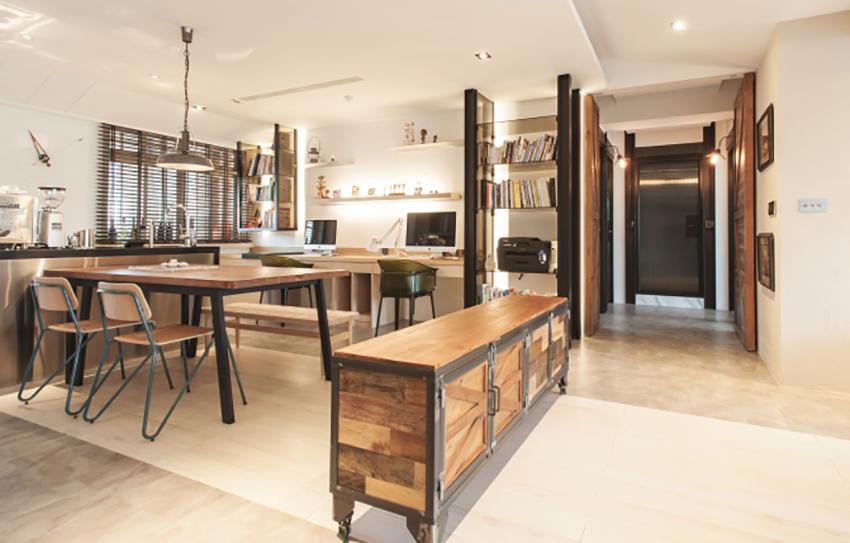 个性的极简工业风 室内设计师温馨的家