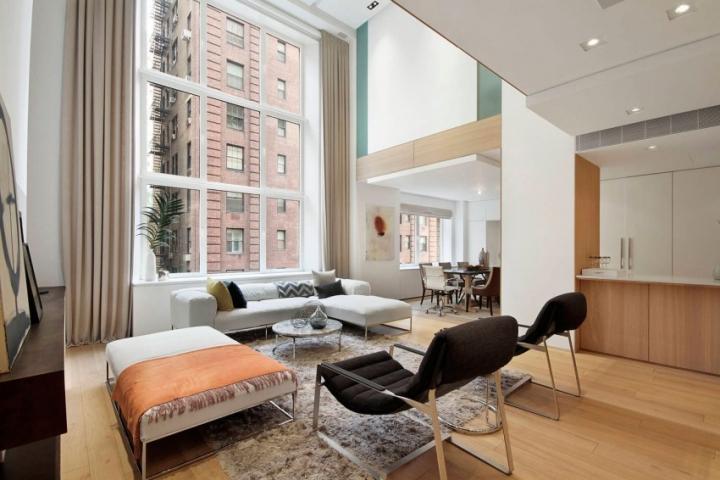 纽约现代复式住宅设计 设计之家