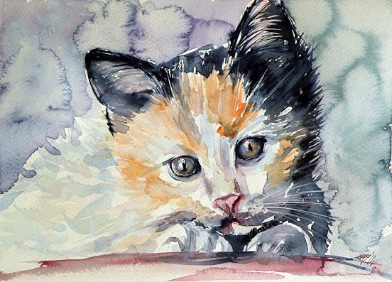 brigitta水彩画欣赏