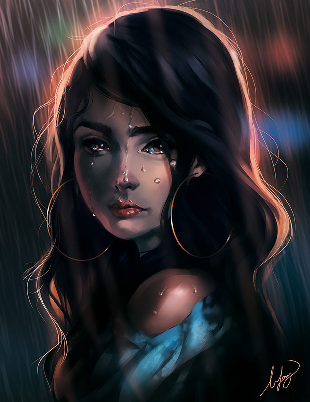 BoFeng女孩肖像插画欣赏