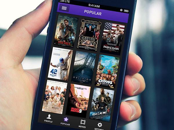 50个创意电影App应用UI设计