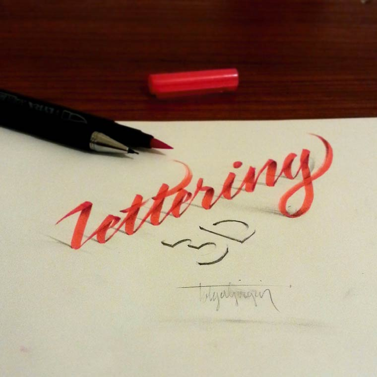 Tolga Girgin创意3D手写字体欣赏