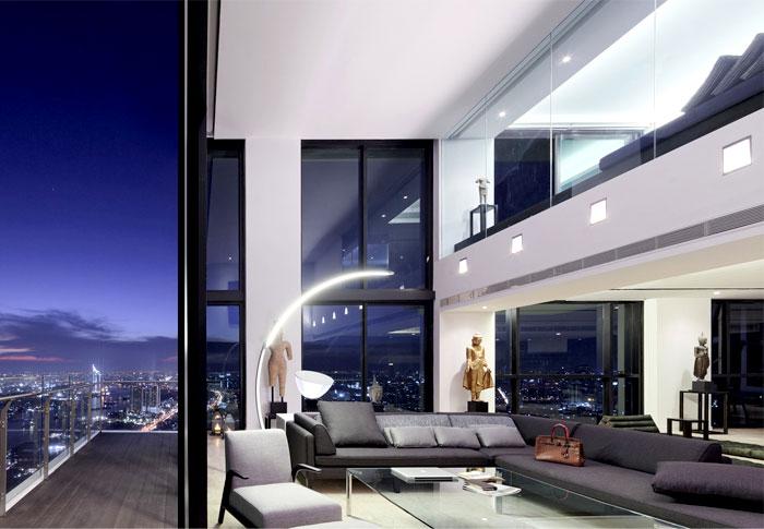 泰国pano豪华现代的顶楼三层复式公寓图片