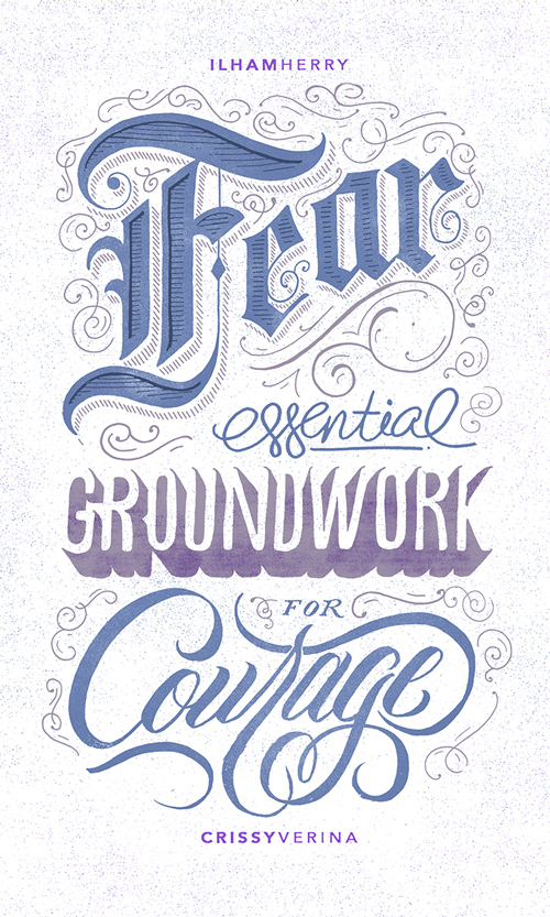 25个漂亮的手绘英文字体设计欣赏(2)