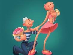 Kate Frolova可爱的卡通人物形象