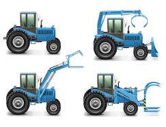 施工和工程车辆矢量素材