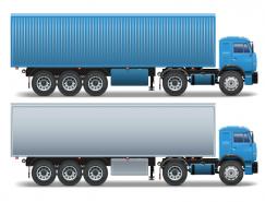 集裝箱車和油罐車矢量素材