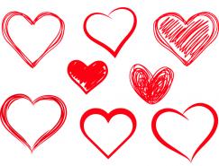 红色爱心矢量素材(2)