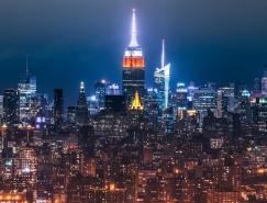 迷人的城市灯光夜景摄影
