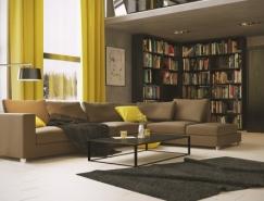 家装设计实例欣赏:温暖舒适的淡黄色点缀