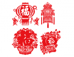 春节喜庆灯笼矢量素材