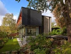 伦敦Fitzroy公园繁茂的林中住�宅