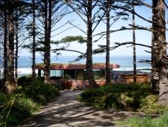 全景透明玻璃海滨度假别墅