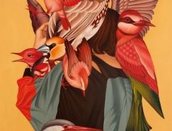 人与动物:韩国艺术家Egene Koo隐寓绘画作品