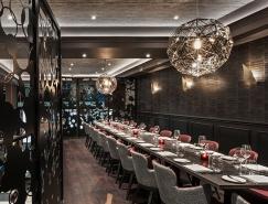 伦敦时尚华丽的M餐厅设计