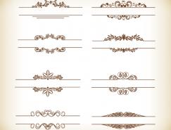简洁复古风格装饰花边设计矢量素材