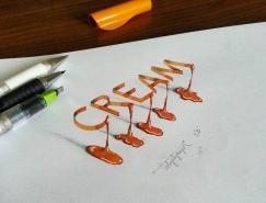 Tolga Girgin創意3D手寫字體欣賞