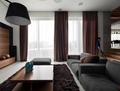 胡桃木的溫暖質感:烏克蘭複式住宅設計
