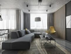 5个黑色主题风格公寓装修欣赏