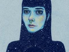 Natalie Foss彩色铅笔肖像插画欣赏