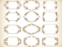 复古花纹边框设计矢量素材