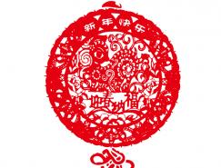 新年剪纸中国结矢量素材