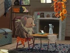 可爱的小刺猬:Olga Demidova童话插图澳门金沙网址