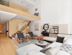 纽约时尚的复式住宅设计