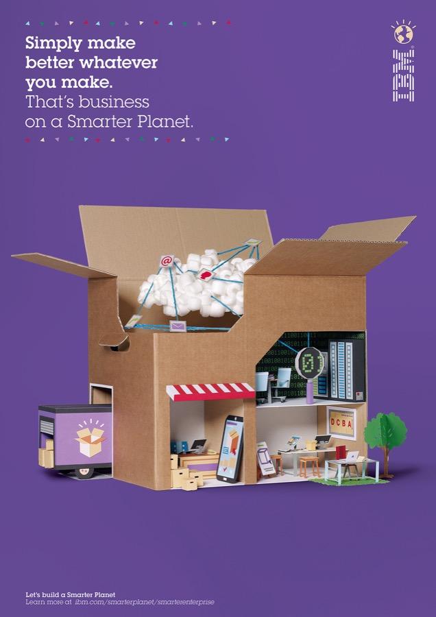 ibm智能星球主题海报设计