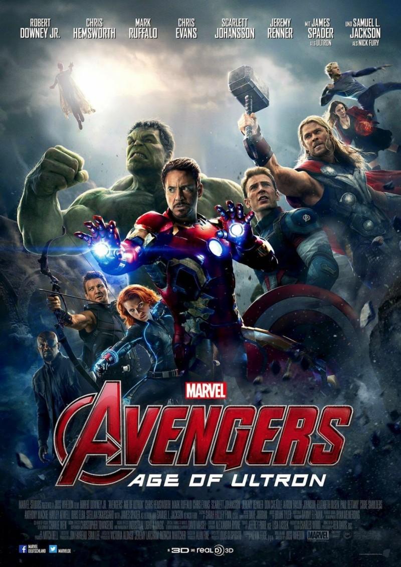 电影海报欣赏: 复仇者联盟2:奥创纪元(avengers: age