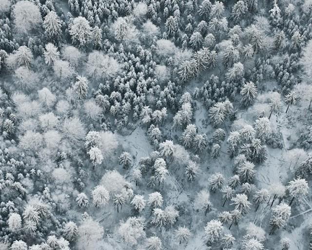 Bernhard Lang迷人的冬季景观航拍摄影作品