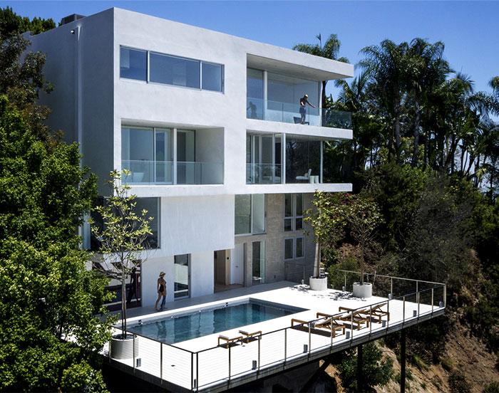 好莱坞山简约风格三层别墅设计