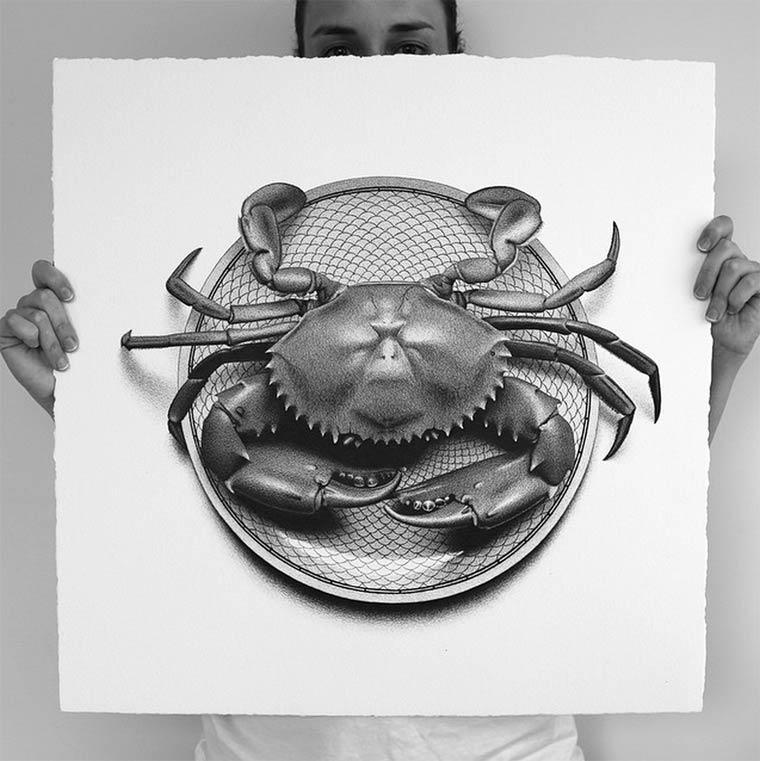 cj hendry逼真手绘食物绘画作品
