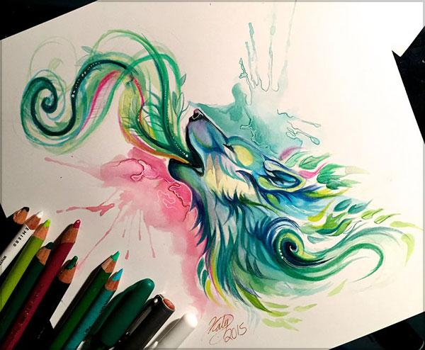 Katy Lipscomb精致的彩色铅笔绘画作品 2 设计之家