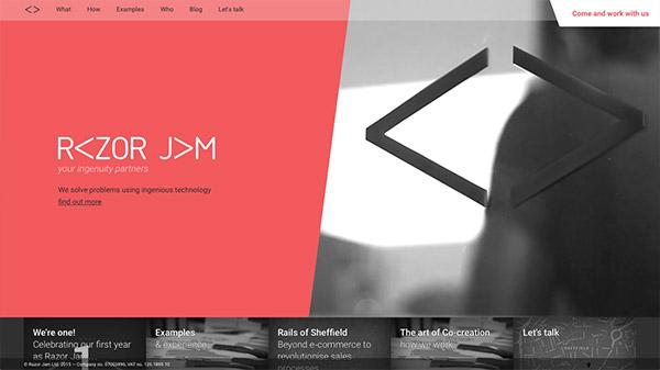 斜线在网页设计布局中运用实例