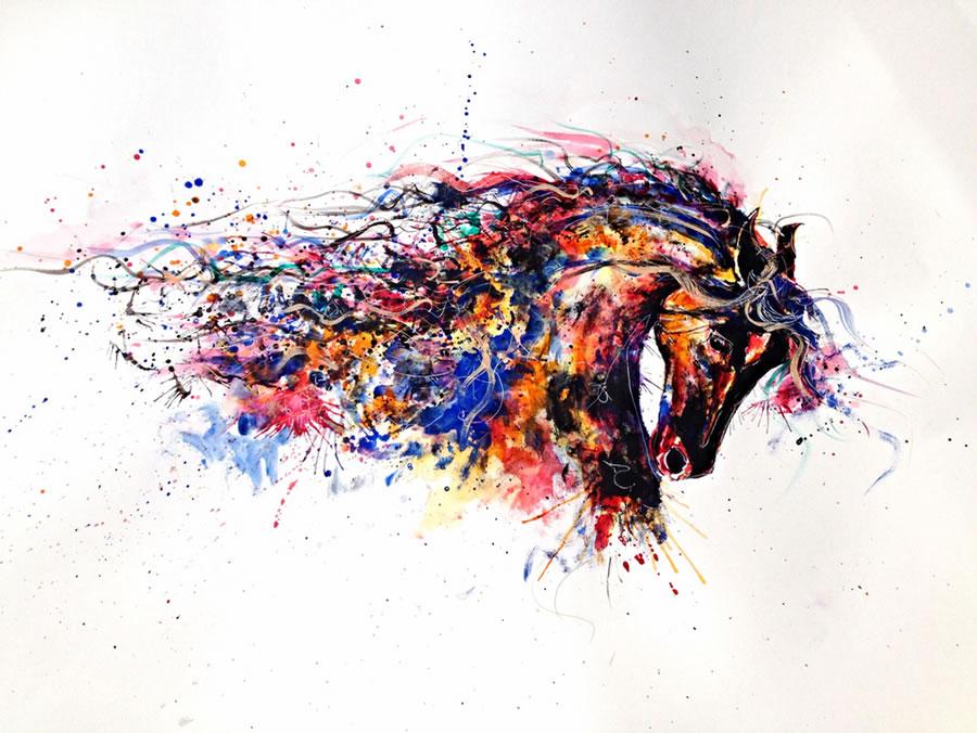 tan缤纷梦幻色彩的动物插画欣赏