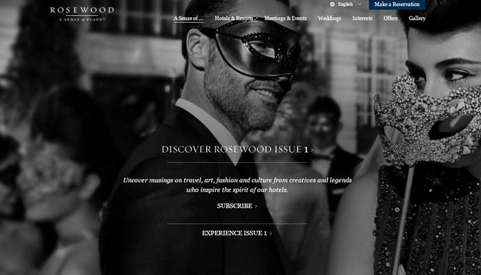 30个酒店网站布局设计灵感